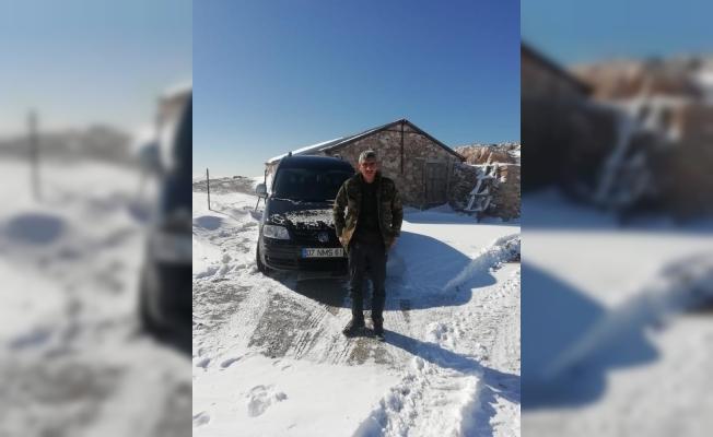 Gazipaşa'nın yaylasında karda mahsur kalan vatandaş kurtarıldı