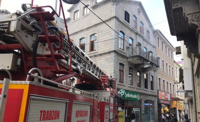Şekerbank'ta yangın paniği