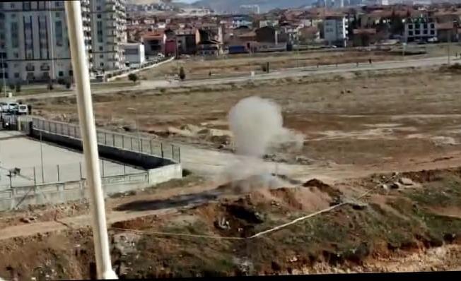 35 yıl sonra polise verdiği bilgi sayesinde toprağa gümülü top mermisi bulundu