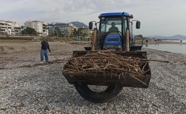 Alanya'da sahilleri temizleniyor