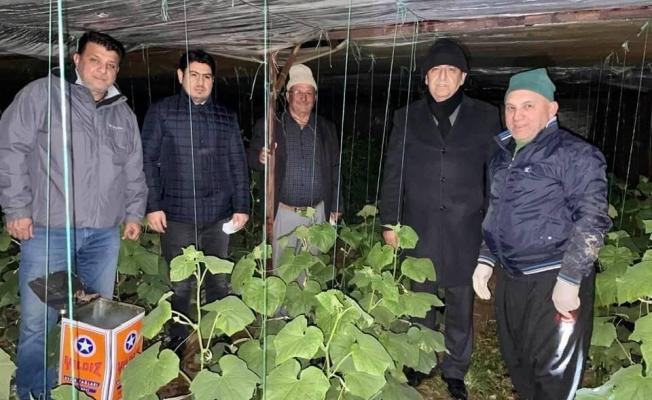 Alanya'da MHP'liler üreticilerle don nöbeti tuttu