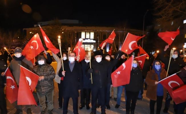 Ardahan'ın kurtuluşunun 100'üncü yıl dönümünde kortej yürüyüşü