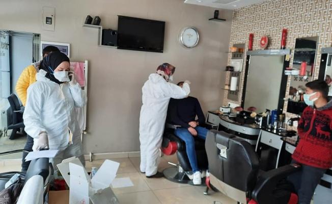 Berber ve kuaförlere korona virüs testi yapılıyor