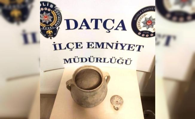 Datça'da tarihi eser operasyonu