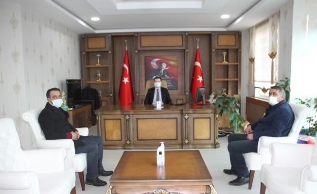 Gazetecilerden Kaymakam Demirer'e ziyaret