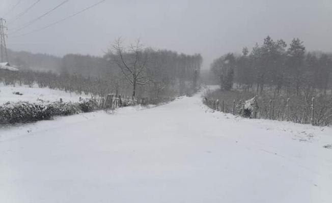 Kar yağışı köy yollarını ulaşıma kapattı