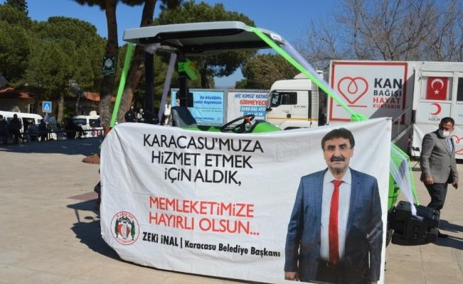 Karacasu Belediyesi yeni aracını vatandaşın hizmetine sundu