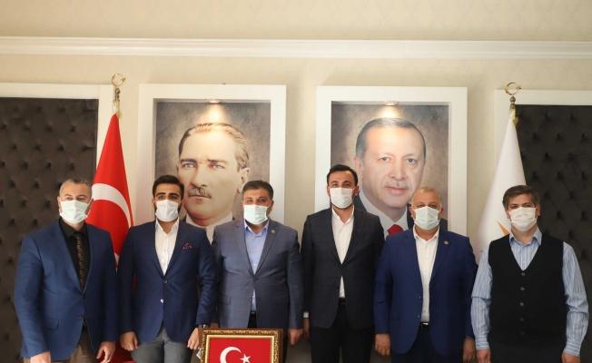 Sağlıkçılardan Başkan Toklu'ya ziyaret