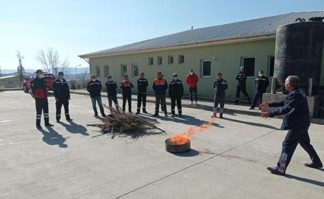 Siirt'te belediye personeline yangın eğitimi verildi