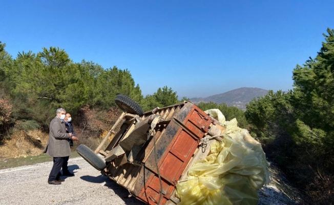 Sındırgı'da traktör kazasında 2 bacanak hayatını kaybetti