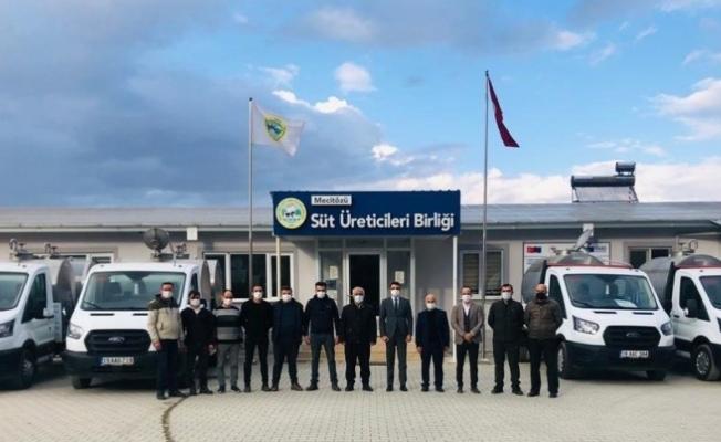 TKDK'dan Mecitözü Süt Üreticileri Birliği'ne araç ve makine ekipman desteği