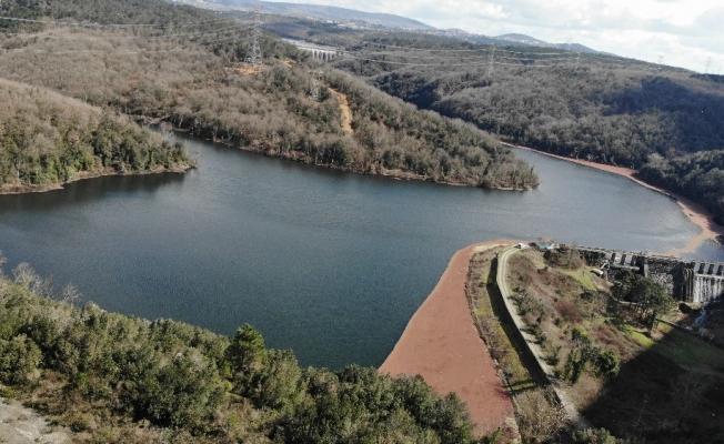 (Drone) Elmalı Barajında doluluk oranı artıyor: Yüzde 63.85'e çıktı
