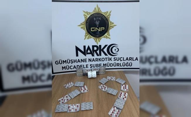 Gümüşhane'de 371 adet uyuşturucu hap ele geçirildi