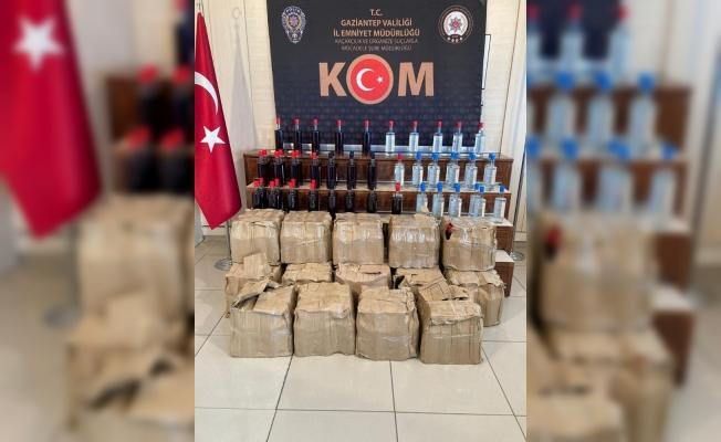 KOM'dan sahte içki operasyonu: 294 şişe ele geçirildi