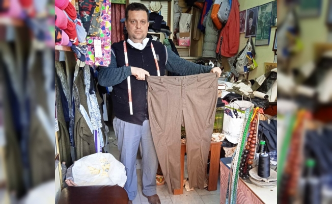 36 yıldır külot pantolon dikiyor