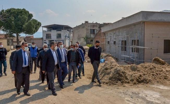 Başkan Güler sağlık merkezi inşaatını inceledi