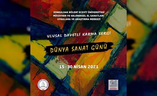 """""""Dünya Sanat Günü"""" online sergi açıldı"""