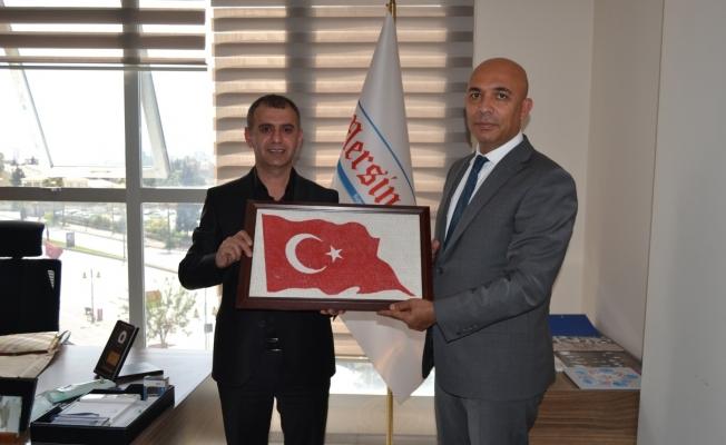 Emniyet Müdürü Şahne, Mersin Times Gazetesinin kuruluş yıldönümünü kutladı