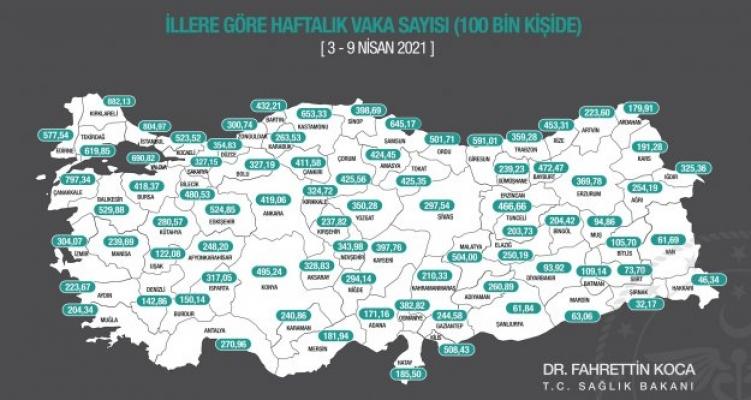 Vaka sayısında Antalya'da rekor artış