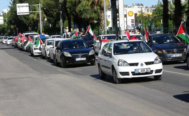 Adıyaman'da Kudüs için Kıyam konvoyu düzenlendi