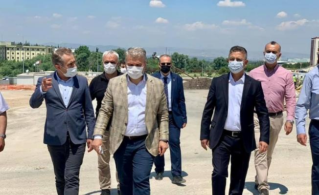AK Parti Milletvekili Canbey, Yurt inşaatını inceledi