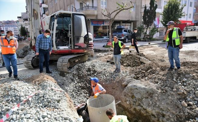 Altınordu'da alt ve üstyapı çalışmaları hız kesmiyor