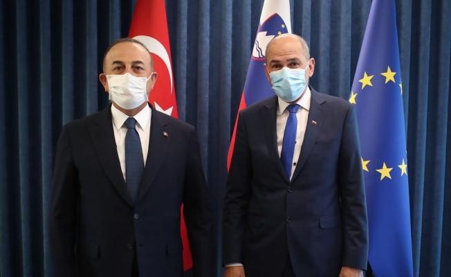 Bakan Çavuşoğlu, Slovenya Başbakanı Jansa ile görüştü