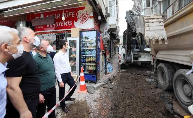 Başkan Büyükakın, Karamürsel'deki altyapı çalışmalarını inceledi