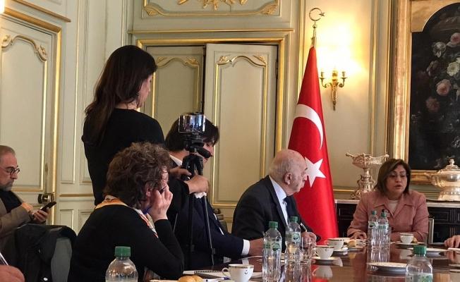 Başkan Şahin Fransız gazetecilerle bir araya geldi