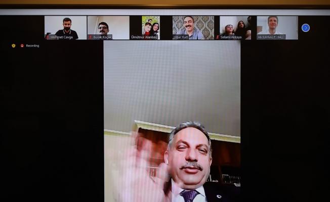 Başkan Yalçın videokonferansla bayramlaştı