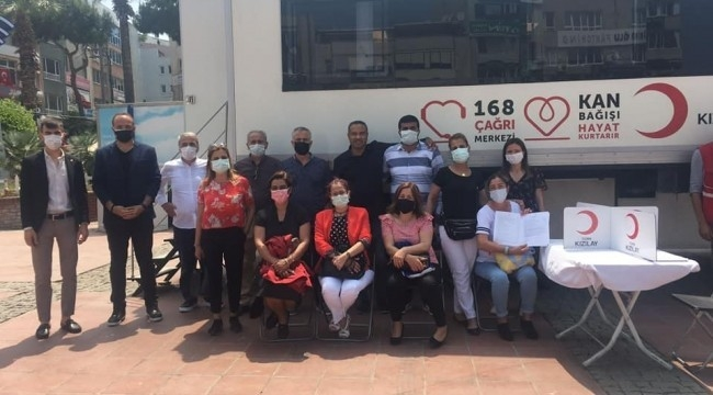 CHP Aliağa'dan kan bağışına destek