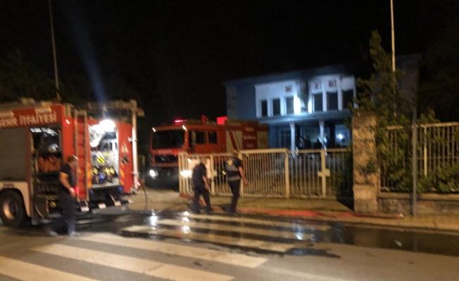 Eski müze binasında çıkan yangın hasara neden oldu