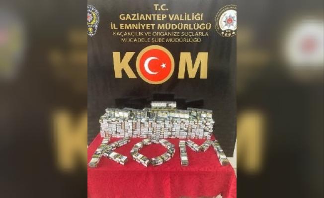 Gaziantep'te 850 paket sahte bandrollü sigara ele geçirildi