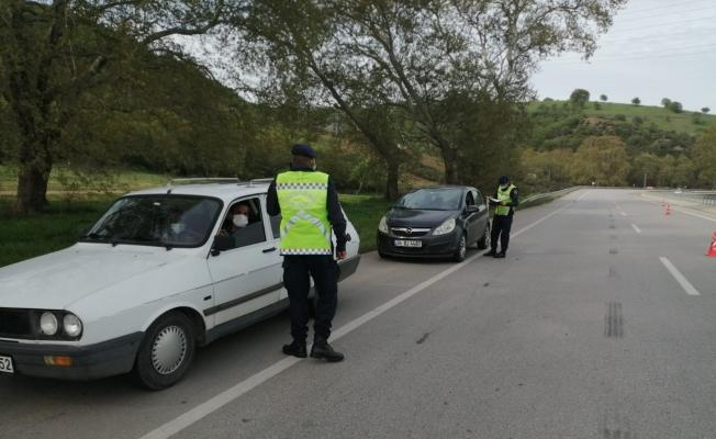 Jandarma Çan'da denetimlerini sürdürüyor