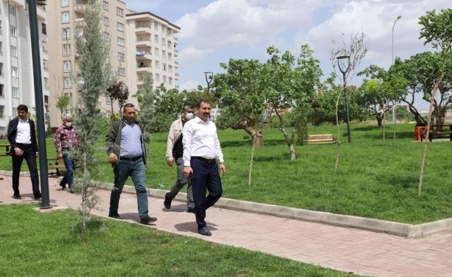 Karaköprü'de yeni parklar incelendi