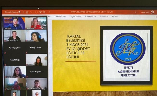 """Kartal'da kreş öğretmenlerine yönelik """"Ev İçi Şiddet Eğiticiler Eğitimi"""" semineri düzenlendi"""