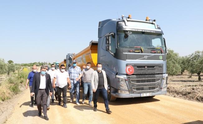 Komisyon üyeleri asfalt çalışmaları hakkında bilgilendirildi