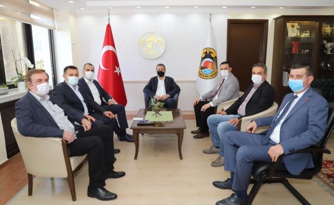 MHP heyetinden Başkan Yücel'e ziyaret