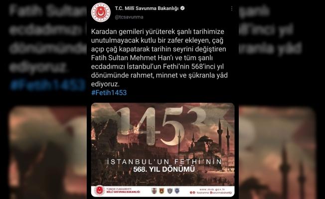 MSB'den İstanbul'un fethinin yıl dönümüyle ilgili paylaşım
