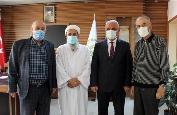 Şehit Kaymakam Safitürk'ün babasından Müftü Erhun'a ziyaret