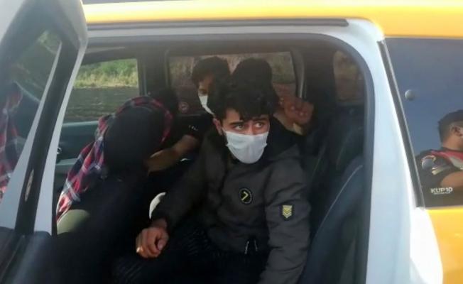 Taksiyle göçmen kaçakçılığı yapan 2 kişi suçüstü yakalandı