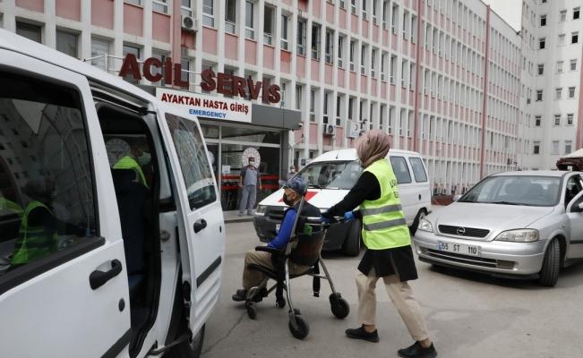 Tam kapanmada hastalara ulaşım desteği