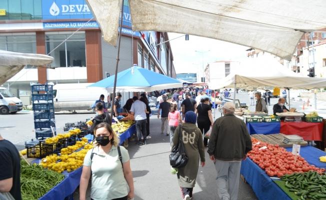 Tekirdağ'da pazarlar açıldı