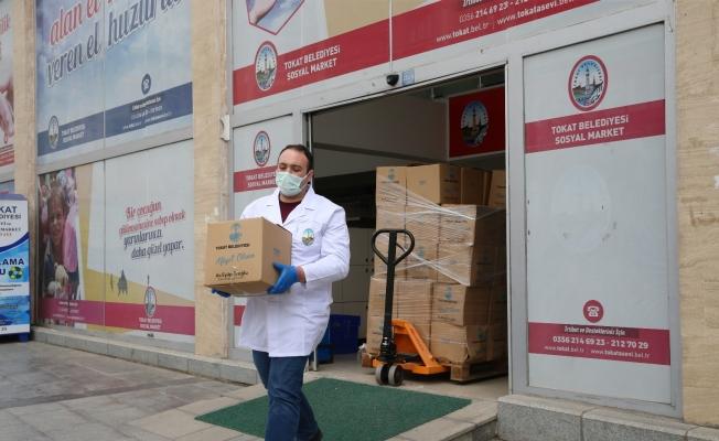 Tokat'ta 5 bin aileye gıda kolisi yardımı