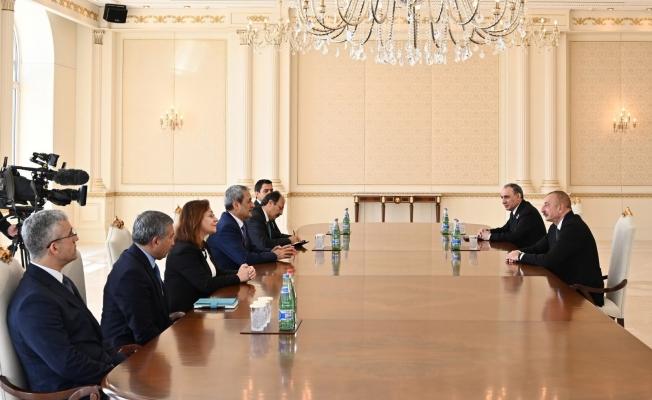 Yargıtay Cumhuriyet Başsavcısı Şahin, Azerbaycan Cumhurbaşkanı Aliyev tarafından kabul edildi