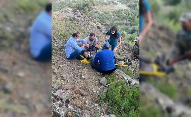 Yozgat'ta kayalıklardan düşen 1 kişi yaralandı