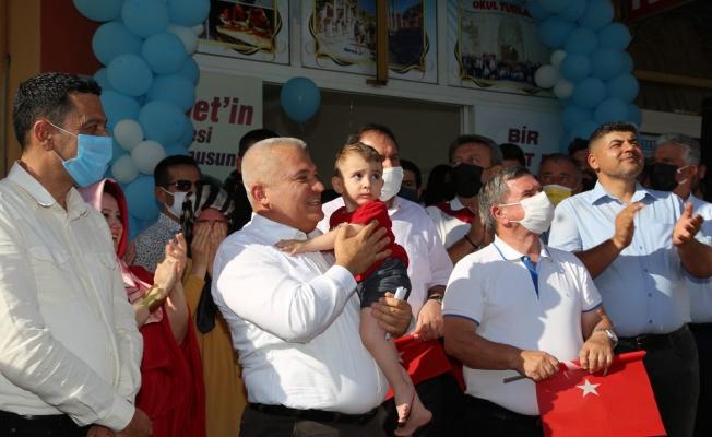 Ahmet bebek Amerika'ya uğurlandı