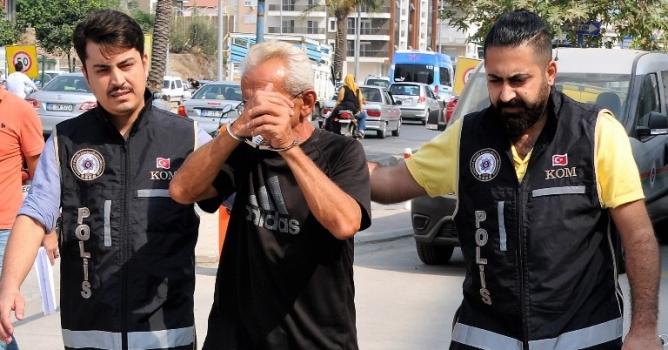 60 yaşındaki uyuşturucu  ticareti şüphelisi tutuklandı