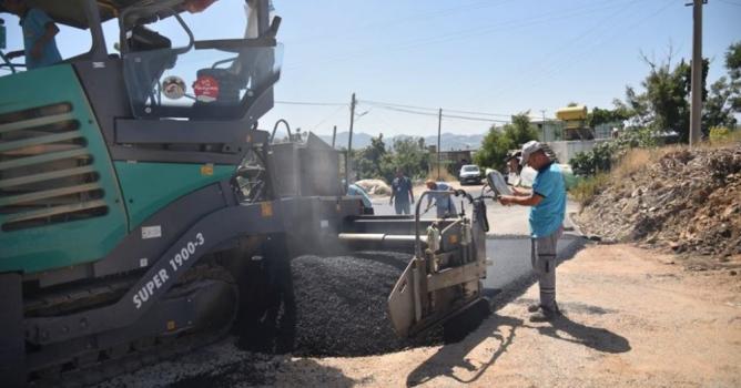 Alanya belediyesi'nden merkezden  yaylalara uzanan asfalt seferberliği