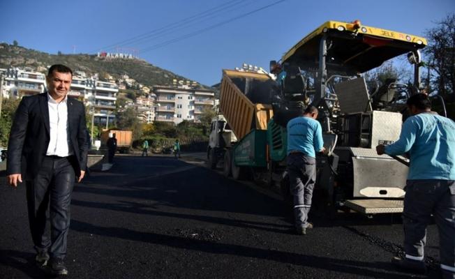 Kuzey Alanya'da  asfalt atağı başladı